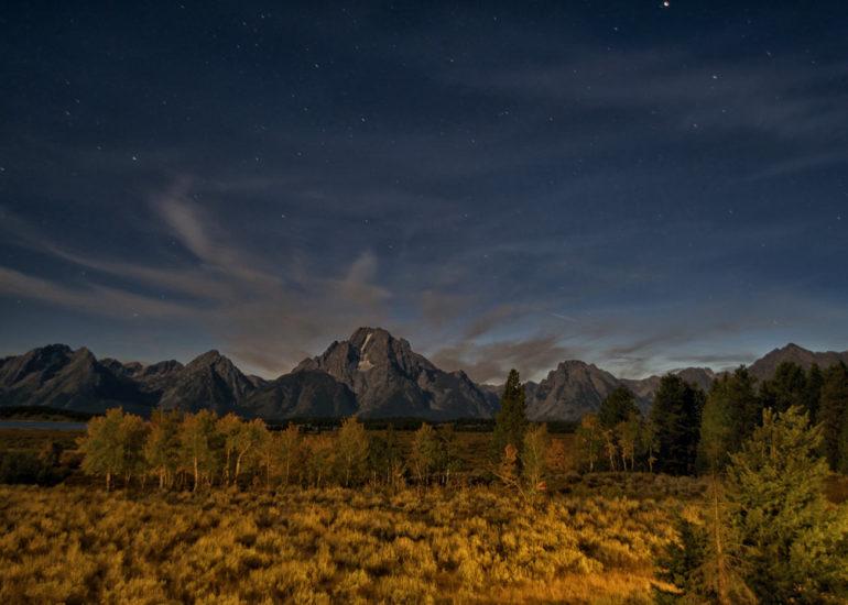 Teton National Park at Night
